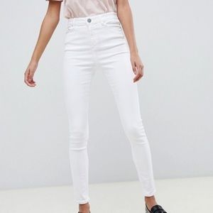 Ridley high waisted skinny jeans in optic white
